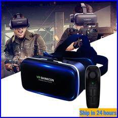 [Amorus VR] Kính VR Dành Cho Điện Thoại Di Động 4.7-6.0 Inch Kính Thực Tế Ảo G04 Đeo Trò Chơi Kỹ Thuật Số 3D Thông Minh + D03 Tay Cầm Bluetooth