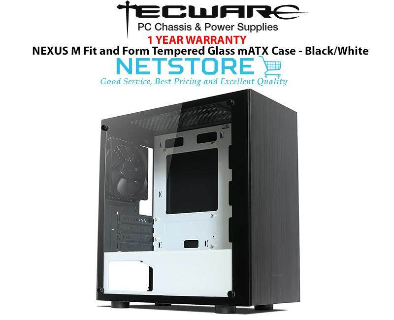 Tecware NEXUS M Fit and Form Tempered Glass mATX Case - Black/White Malaysia