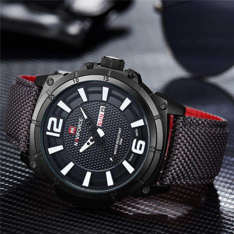 NAVIFORCE Brand Luxury Men Watch Fashion Casual Watches Mens Quartz Date Clock Man Leather Waterproof Sports Nylon Watches Jam Tangan Lelaki Malaysia