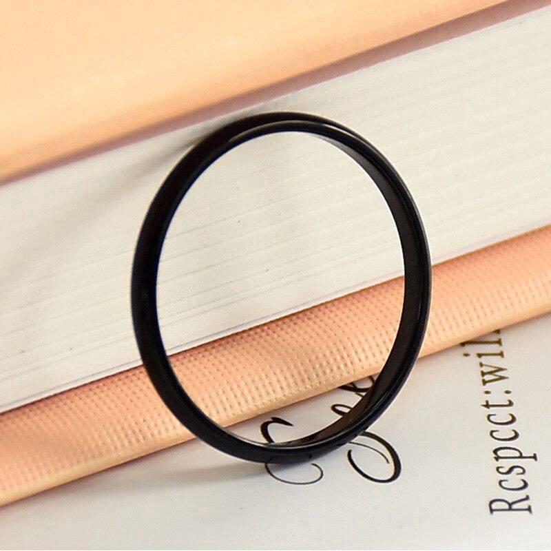 18K Titanium Nhẫn Đôi Thời Trang Nữ Đơn Giản Và Mịn Màng Nhẫn Titan Nhẫn Hồng Vàng