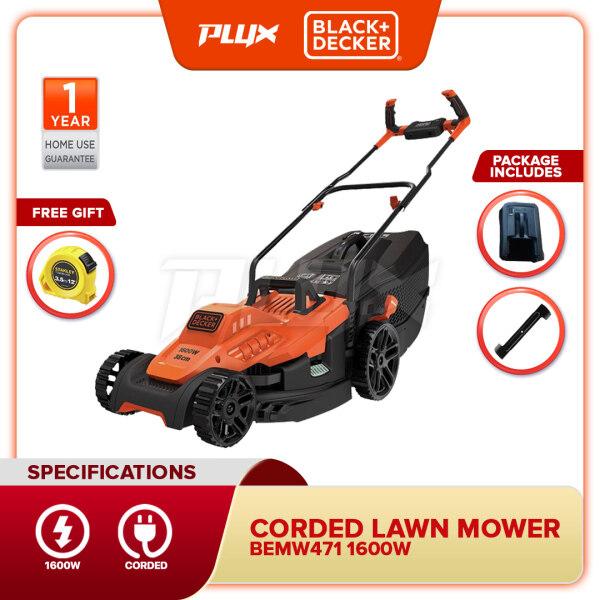BLACK & DECKER BEMW471BH-XD 1600W Lawn Mower with Bike Handle (BEMW471BH BEMW471)