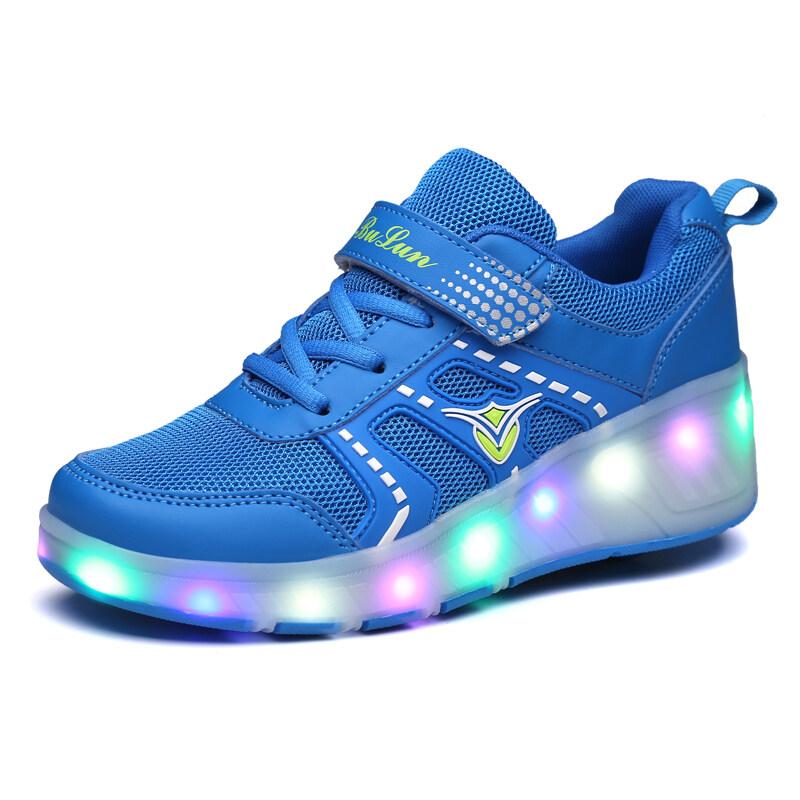 Phân phối Thương Hiệu Whitby Năm 2019 Thời Trang Unisex Ròng Rọc Có Đèn Chiếu Sáng Giày Trẻ Em Giày, Trẻ Em Giày Trượt