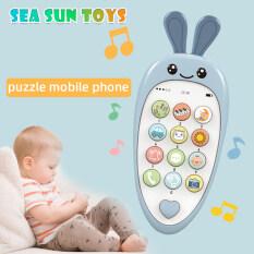 SEA & SUN Điện thoại di động đồ chơi phát nhạc thiết kế hoạt hình đáng yêu chất liệu an toàn, cho trẻ từ 0-2 tuổi – intl