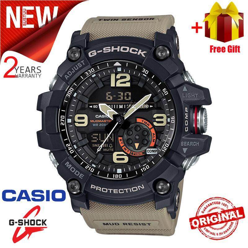 [Spot] Promotional original leisure training watch C-asio G Shock_GA-110GB-1A fashion mens sports Duo W / Time 200M waterproof running shockproof0 Malaysia