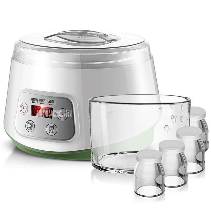 ⭐Chất Lượng cao thiết bị Điện⭐Máy Làm Sữa Chua tự động Gia Đình Đa năng Trắng Natto Cơm Máy Với 4 Ly Thủy Tinh 1.3L