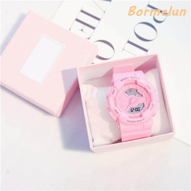 [Free Watch Box]Ins Hot Sale Trendy Ulzzang Fashion Multifunction Electronic Sports Watch For Women G-style Female Student Korean Version Simple Casual Digital Waterproof Sports Watch Malaysia