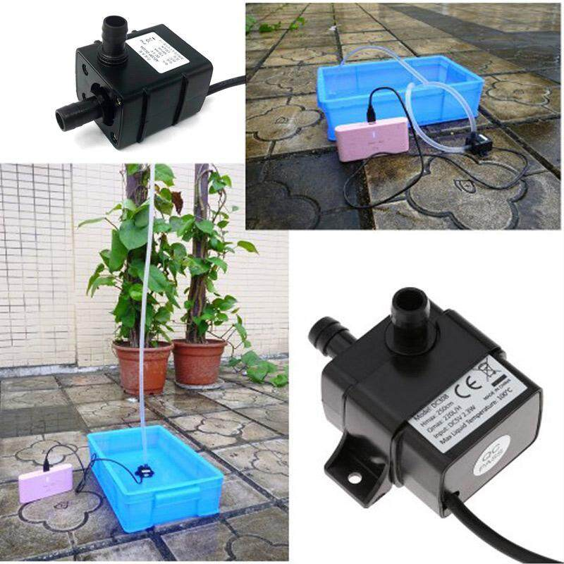 W&R Outdoor Submersible Water Pump, DC 5V USB Mini Micro Ultra Quiet Circulation Immersible Pump for Aquarium Fish Tank Fountain