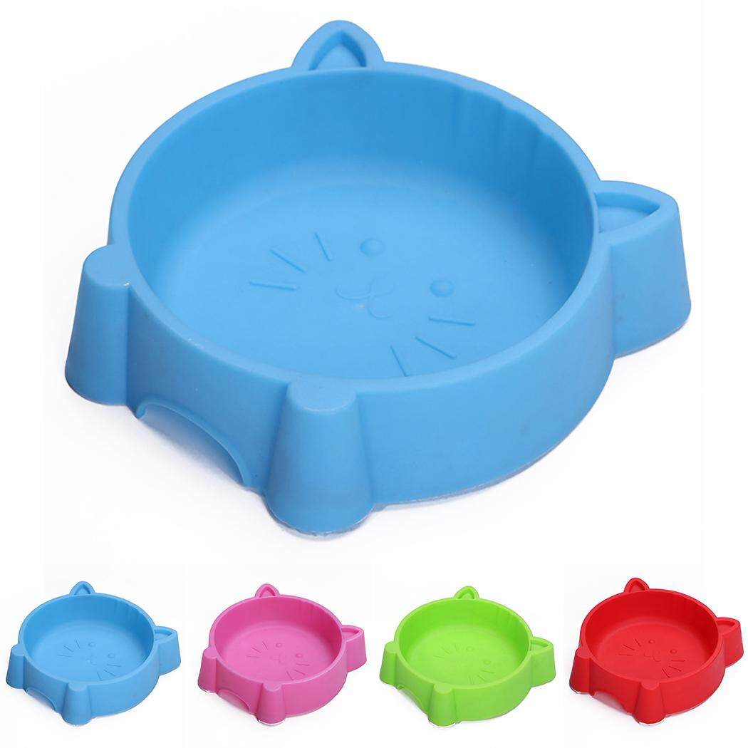 Pet Bowl Creative Portable Plastic Cat Face Multipurpose Cat Bowl Dog Bowl, Blue By Five Star Store 2zz.