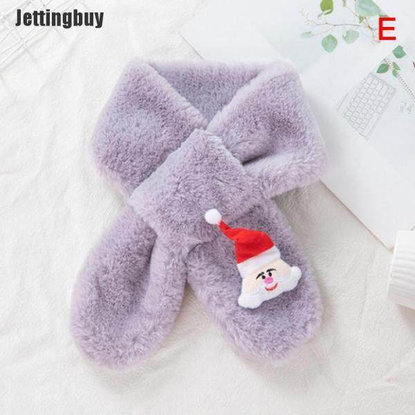[Jettingbuy] Khăn Quàng Cổ Mùa Đông Cho Trẻ Em Khăn Quàng Cổ Dễ Thương Khăn Quàng Cổ Lông Thú Giả Hoạt Hình Vải Nhung