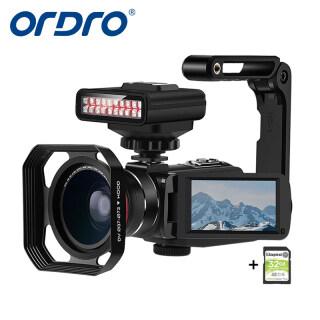 Camera Video Ordro Z63 2K Máy Quay Tầm Nhìn Ban Đêm, Camera Video Điều Tra Huyền Bí Tầm Nhìn Ban Đêm HD WiFi 2K 30FPS 30MP Máy Quay Phim Với Đèn Hồng Ngoại, Ống Kính Góc Rộng Và Giá Đỡ Máy Ảnh Và Thẻ SD 32G thumbnail