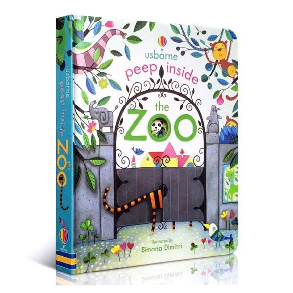 Peep Inside The Zoo Animal English Educational 3D Flap Picture Books Baby Children Reading Book Malaysia
