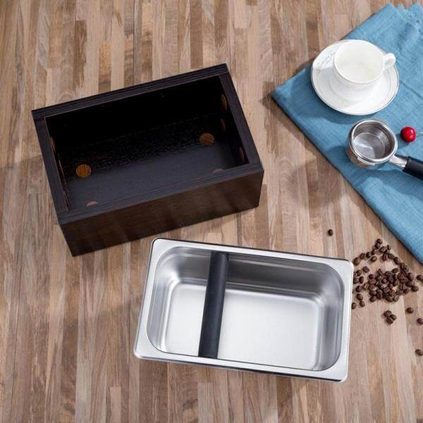 Stainless Steel Espresso Coffee Knocking Box Container Coffee Grounds Barrel Coffee Accessories, Coffee Knocking Box Container Coffee Grounds, Detachable Coffee Grounds Container