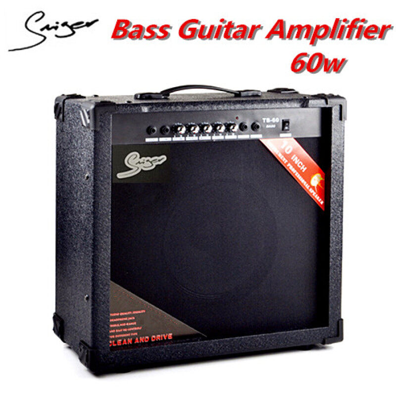 Smiger Bass Guitar Amplifier 60W With Lineout Headphone Input Malaysia