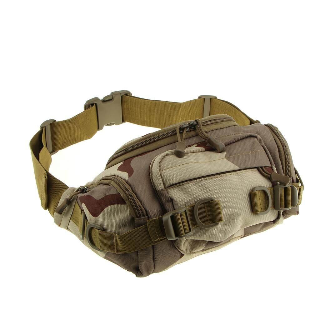 MagiDeal Camouflage หลายกระเป๋าคาดเอวกระเป๋ายุทธวิธีกระเป๋าคาดเอวหน้าอกกระเป๋าสะพายข้าง