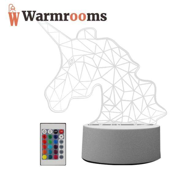 Động Vật Ánh Sáng Ban Đêm Đèn Ngủ LED Acrylic, 16 Màu Sắc Thay Đổi Với Điều Khiển Từ Xa (Hàng Có Sẵn)