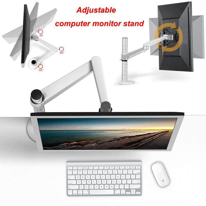 C-S Monitor Mount ,10 to 32 Inch Gas Strut Monitor Desktop Arm Desk Mount,Single Arm Monitor Stand