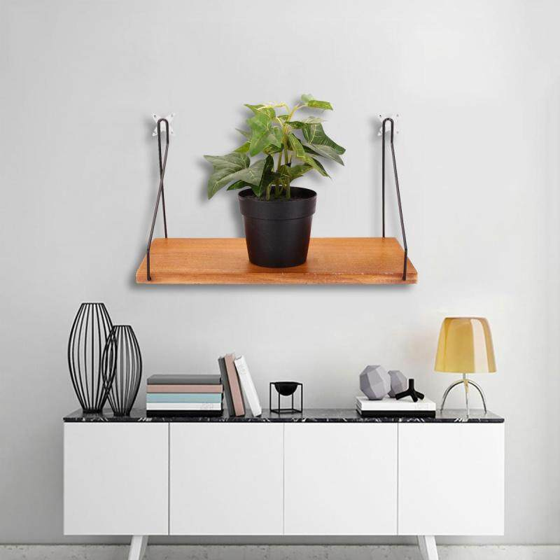 30X18.5X16.5CM Wall Shelf Household Wooden Hanging Holder Storage Wall Mount Rack Home Decor