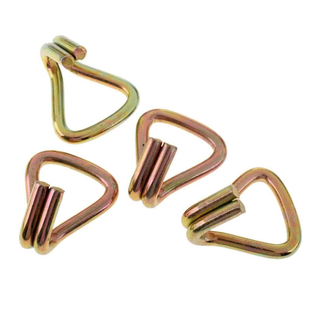 BolehDeals 4 Pieces Heavy Duty Ratchet Double J Hook for 1 25mm Tie Down Strap Webbing