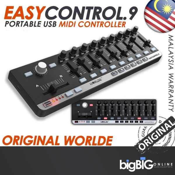 Worlde EasyControl.9 Portable USB MIDI Controller for music maker and composer and home user Malaysia