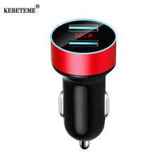 Củ sạc nhanh 3.4A 5V cổng USB kép KEBETEME cho xe hơi với màn hình LCD có đèn LED báo hiệu đầu ra cao 3.1A dùng cho các điện thoại thông minh và các thiết bị kỹ thuật số giá siêu tốt – INTL