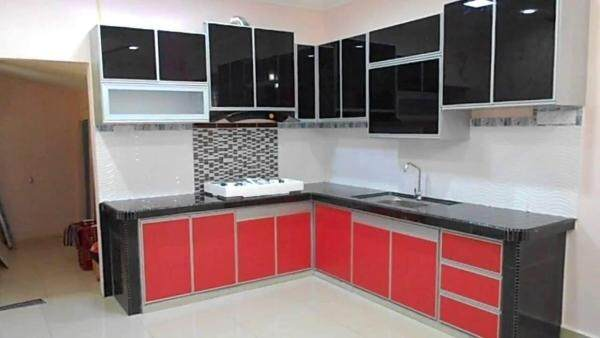 Hg Kabinet Wallpaper Red glossy 10M
