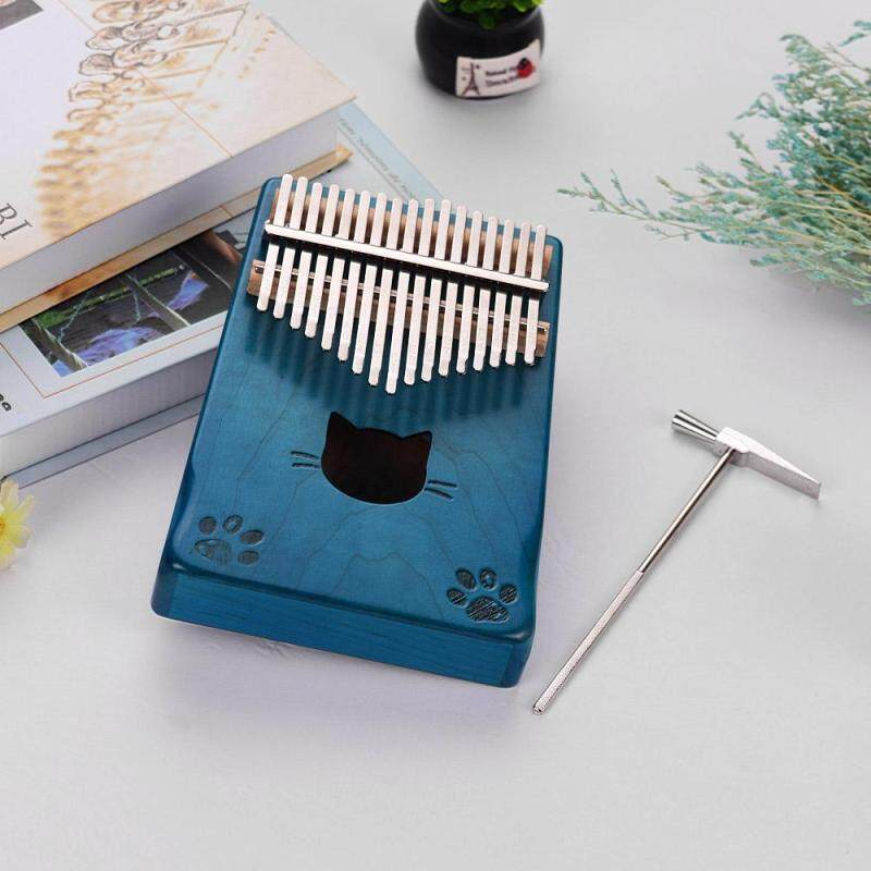 [Hot Sale]Walter.t WK-171BL Portable 17-key Kalimba Thumb Piano Mbira Maple Wood with Carry Bag Tuning Hammer Cleaning Cloth Stickers Musical Gift Malaysia