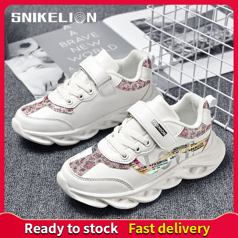 Kids Boys Girls Running Shoes Sports Athletic Sneaker Trainers Travel 26-37
