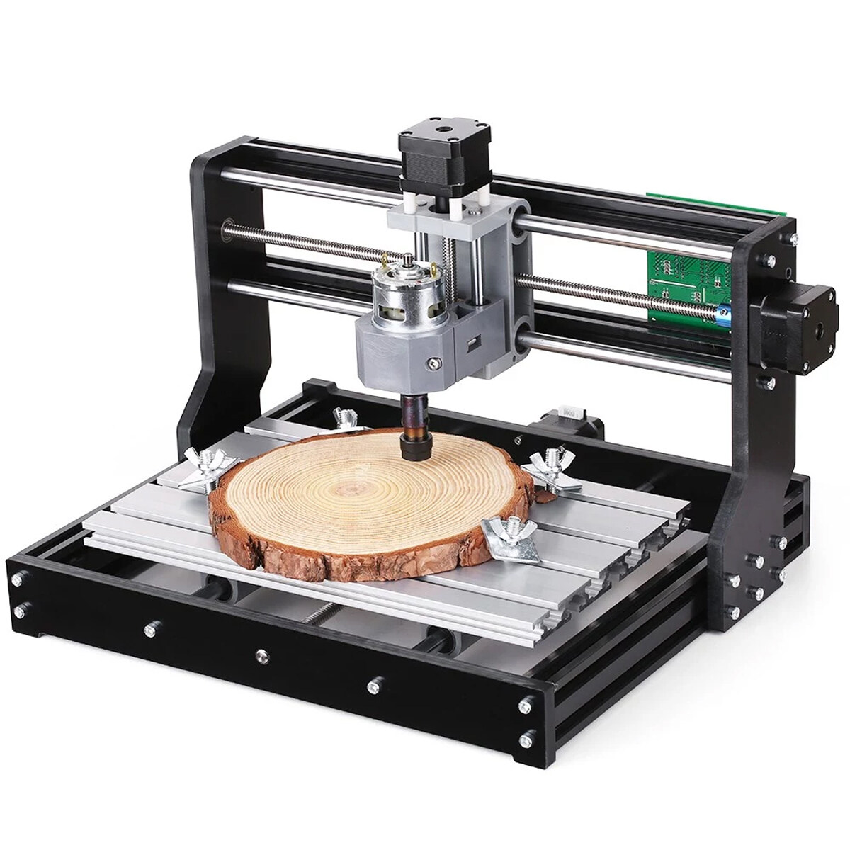 Mini DIY CNC Router Adjustable Speed Spindle Motor Wood Laser Engraving Machine
