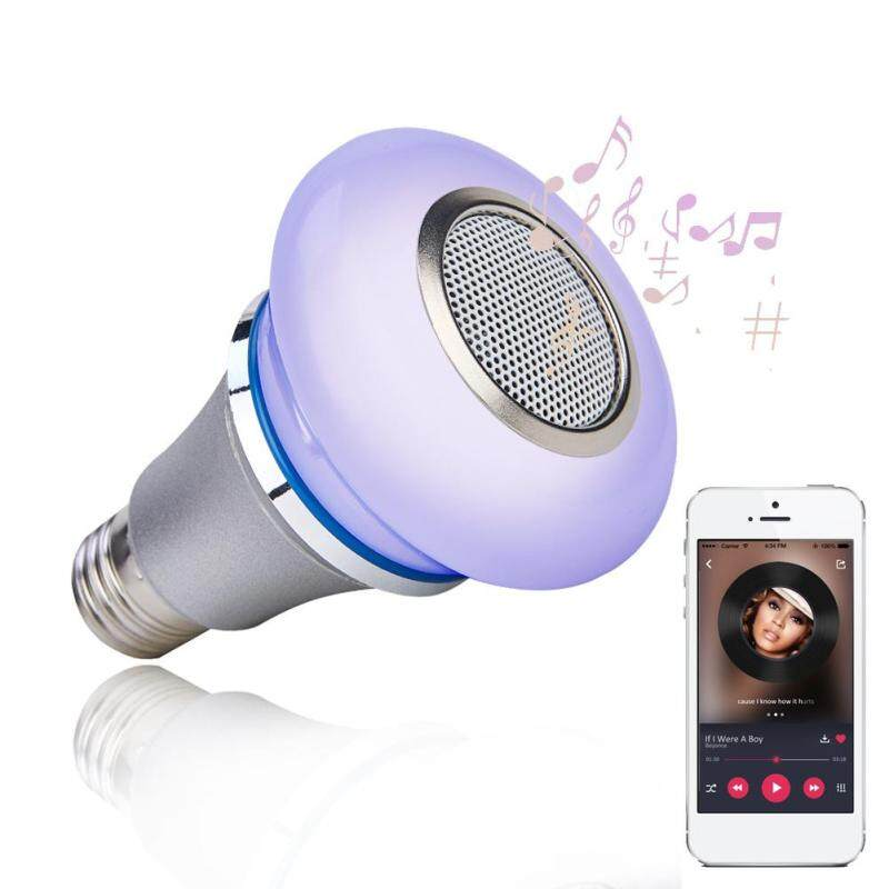 Wireless Playing Remote Control Mini Smart Life Dimmable Home RGB Color Changing Bluetooth Speaker Music Light Bulb
