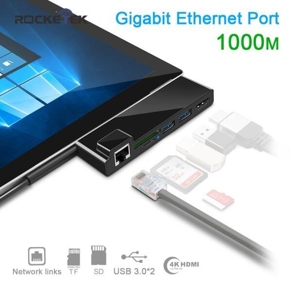 Usb3.0 Hub 4K Hdmi 1000M Gigabit Ethernet Memory Card Reader For Sd/Tf Micro Sd For Microsoft Surface Pro 3 Pro 4 Pro 5 Pro 6