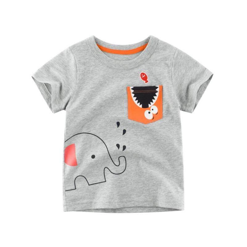 e9f0c82f Baby Boys Summer Cotton Cartoon Animal Print T-shirt Tops Blouse Short  Sleeve Casual Tee