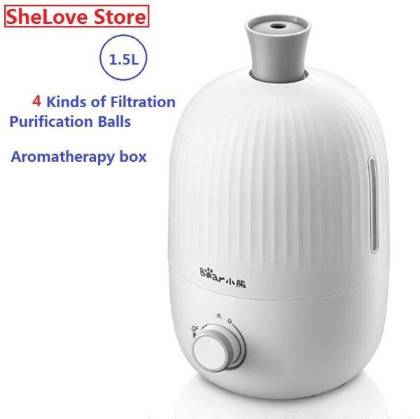 Bear Mini Humidifier Home Quiet Office Desktop Bedroom Small Air Purification Aromatherapy Humidifier 1.5L JSQ-B15H2 Singapore