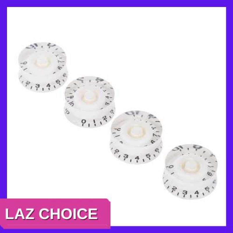LAZ CHOICE 4pcs Speed Volume Tone Control Knobs for Gibson Les Paul Guitar Replacement Electric Guitar Parts Black (White) Malaysia