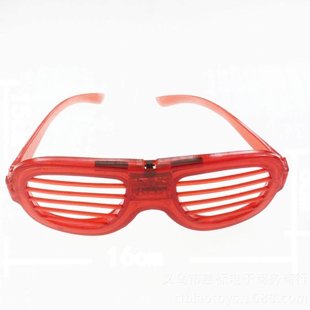 Baru LED Berkedip Kacamata Rana Bersinar Buta Kacamata dengan Baterai Trik  Pesta e9eb65aaf1