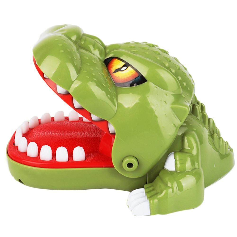 Menggigit Mainan Dinosaurus-Rumit Spoofing Inovatif Lucu Menggigit Jari Periksa Gigi Buaya Permainan Interaktif