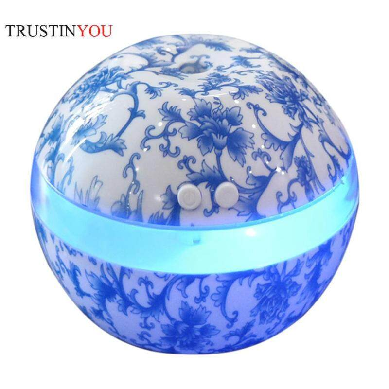 [trustinyou]300ml USB Smart Key Press Ball Ultrasonic Air Humidifier 7 Color LED Night Light Aroma Essential Oil Diffuser Aromatherapy Air Purifier Mist Maker for Office Home Singapore
