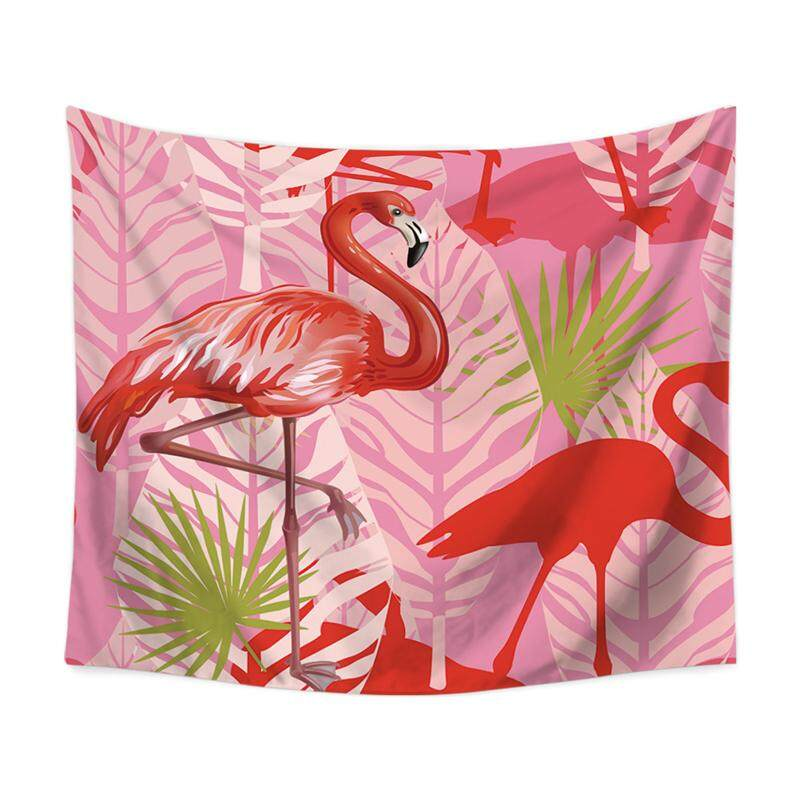 European and American National Wind Flamingo Multi-functional Tapestry Blanket Wall-mounted Beach Towel 130cmX150cm
