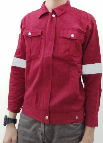 PPE BUTTON SAFETY JACKET WORKWEAR