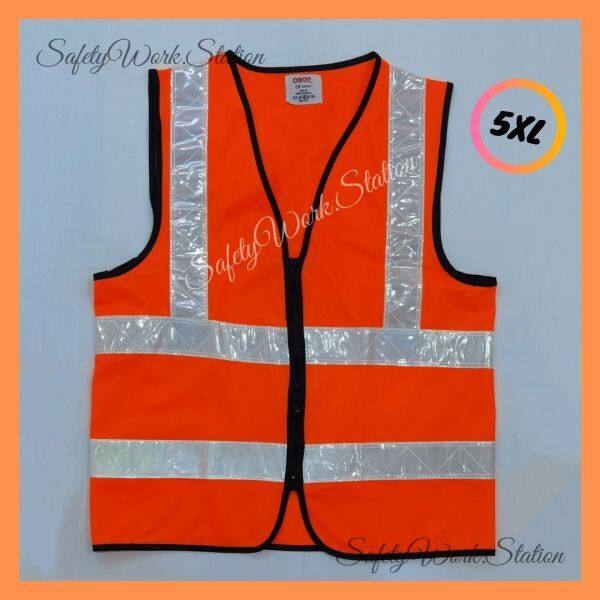 (LOCAL STOCK) SAFETY VEST ORANGE  WITH 4 REFLECTIVE