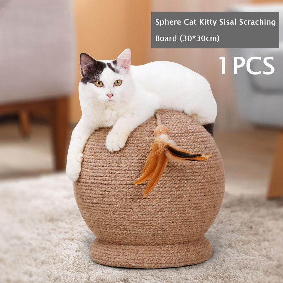 Cat Kitty Sisal Scraching Board Post Large Claw Scratch Playing Scratcher Sphere Ball 30*30cm By East Ear Living House.