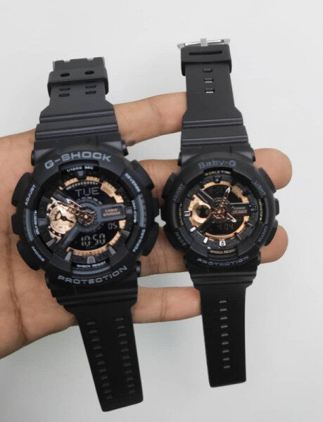 SPECIAL PROMOTION CASIO G_SHOCK_ DUAL TIME RUBBER STRAP WATCH SET FOR COUPLES Malaysia