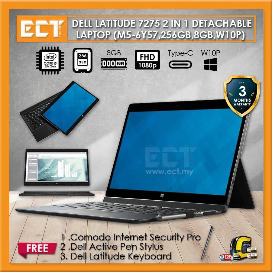 (Demo Set) Dell Latitude 7275 2 in 1 Business Class Latpop (M5-6Y57 2.80Ghz,256GB SSD,8GB,12.5FHD Touch,W10P) Malaysia