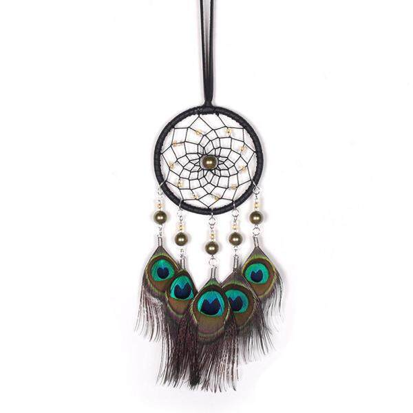 Bloomyshop COD Free shipping Handmade Lace Dream Catcher Feather Bead Hanging Decoration Ornament Gift
