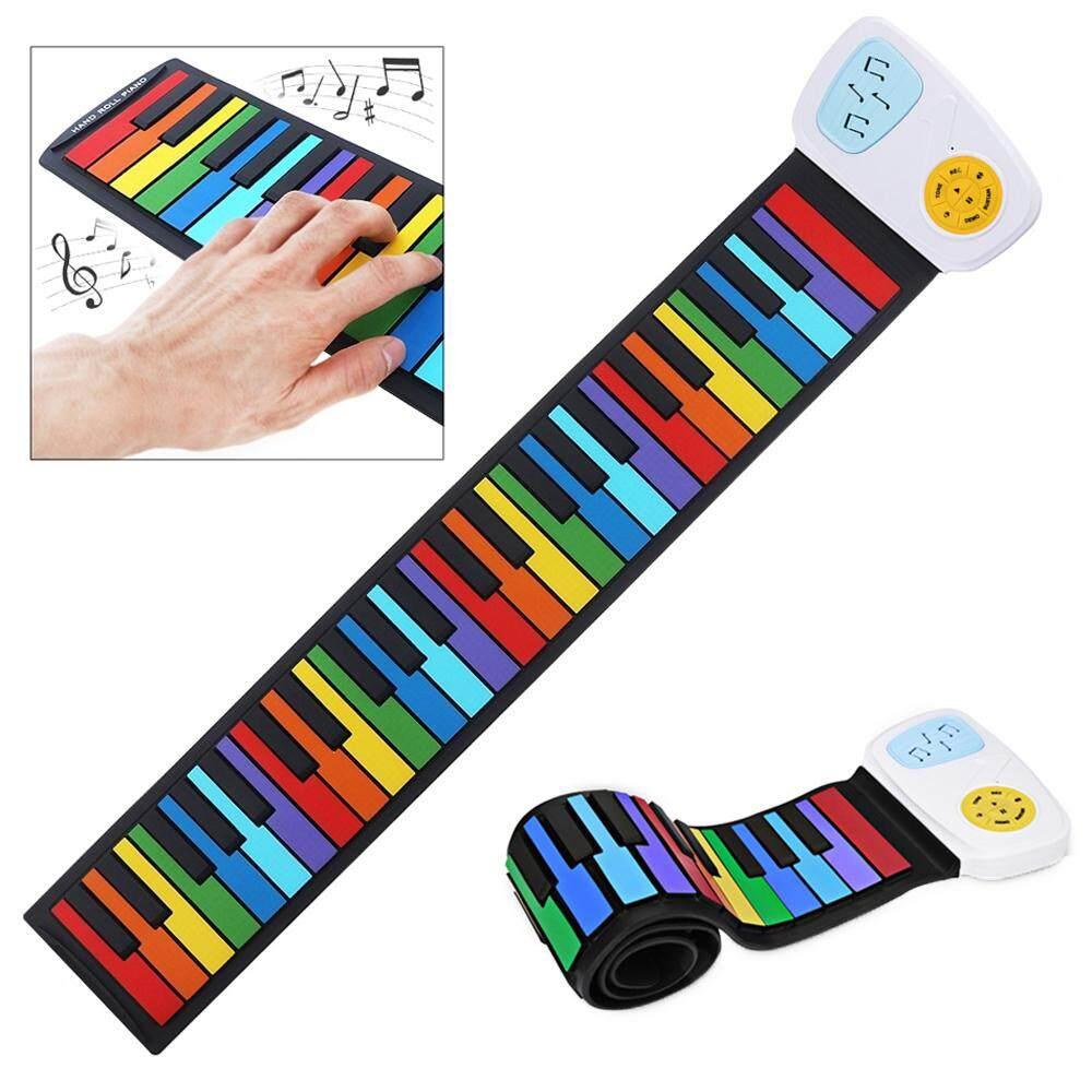49 Tombol Silikon Warna-Warni Fleksibel Tangan Piano Gulung Keyboard Listrik Organ Built-In Speaker Pencerahan Musik By Epathchina Store.