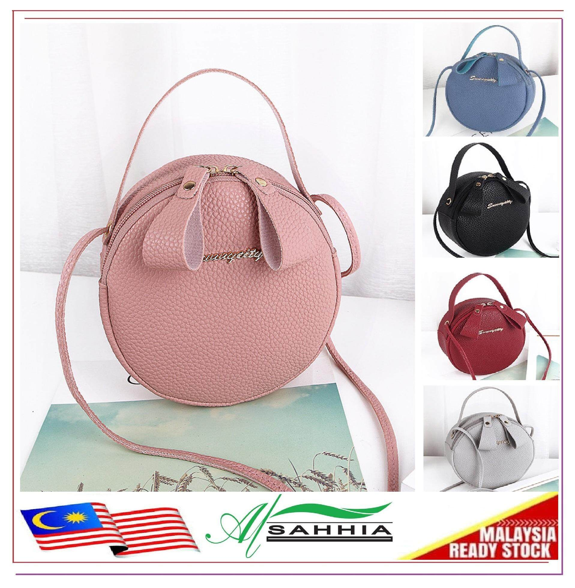 Al Sahhia Ready Stock Sunny City Round Tote Sling Bag d9332990b6