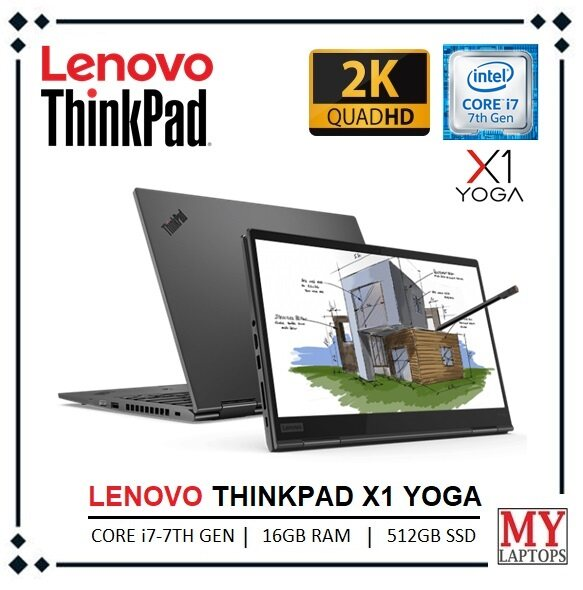 LENOVO THINKPAD X1 YOGA (2ND GEN) [CORE i7-7TH GEN / 16GB RAM / 512GB SSD] 2K IPS DISPLAY(2560 X 1440) / ULTRABOOK / WINDOWS 10 PRO Malaysia