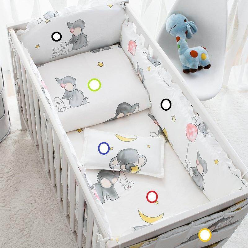 Baby Bedding Friendly 6pcs Cartoon Baby Bedding Sets Baby Crib Bumpers Bed Around Cot Bed Sheets 100%cotton Thickening Customizable Baby Beddings Bumpers
