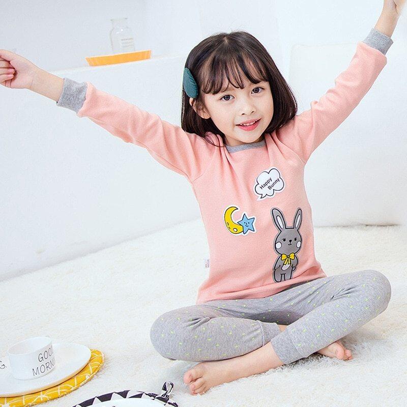 Nơi bán Trẻ Em Bộ Đồ Ngủ Thu Đông 2019 Bé Gái Quần Ngủ Nam Váy Ngủ Cho Bé Quần Áo Trẻ Sơ Sinh Động Vật Hoạt Hình Pyjama Bộ Cotton Trẻ Em Pyjamas
