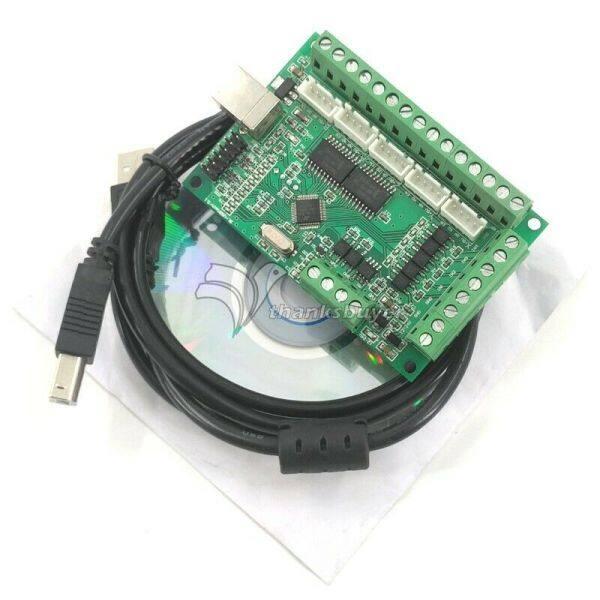 Bảng Mạch Giao Tiếp Mach3 CNC USB 100KHz Bộ Điều Khiển Chuyển Động Giao Diện 5 Trục Am9587 Hỗ Trợ Windows XP, Win7, Win8, Win10, Hỗ Trợ 64-Bit 12-24V Và Chức Năng Chống Đảo Ngược
