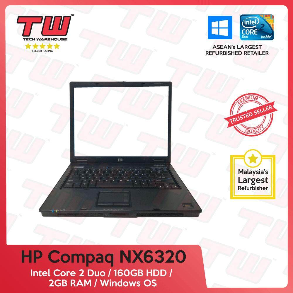 HP Compaq NX6320 Core 2 Duo / 2GB RAM / 160GB HDD / Windows OS Laptop / 3 Months Warranty (Factory Refurbished) Malaysia